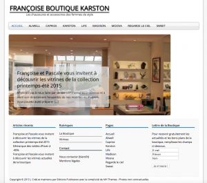 Site Web Francoiseboutique.fr